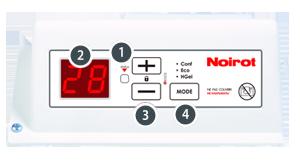 Подбор конвектора Noirot серии Spot E-4 по габаритным размерам